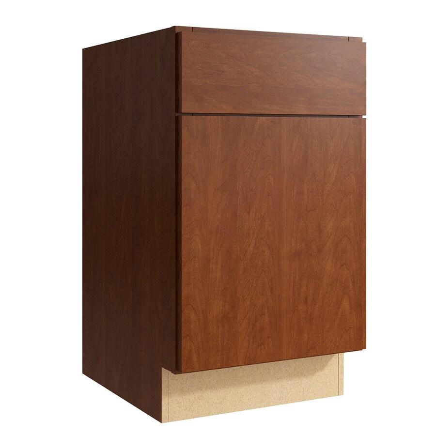 KraftMaid Momentum Sable Frontier 1-Door Left-Hinged Base Cabinet (Common: 18-in x 21-in x 31.5-in; Actual: 18-in x 21-in x 31.5-in)