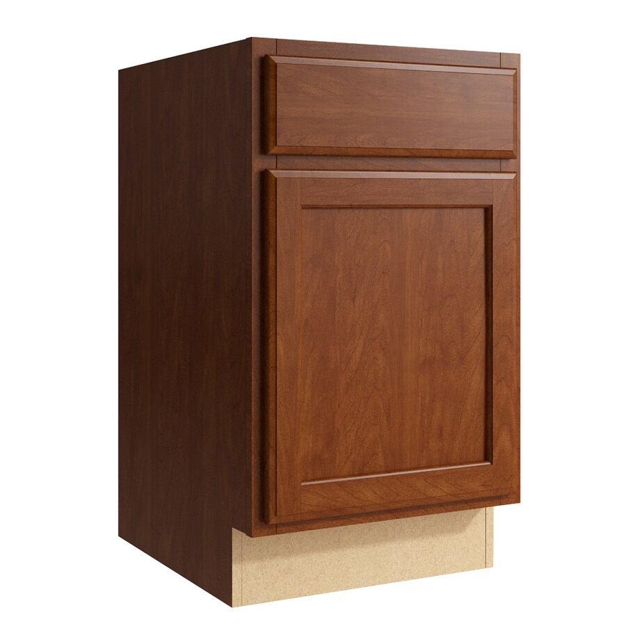 KraftMaid Momentum Sable Kingston 1-Door Left-Hinged Base Cabinet (Common: 18-in x 21-in x 31.5-in; Actual: 18-in x 21-in x 31.5-in)