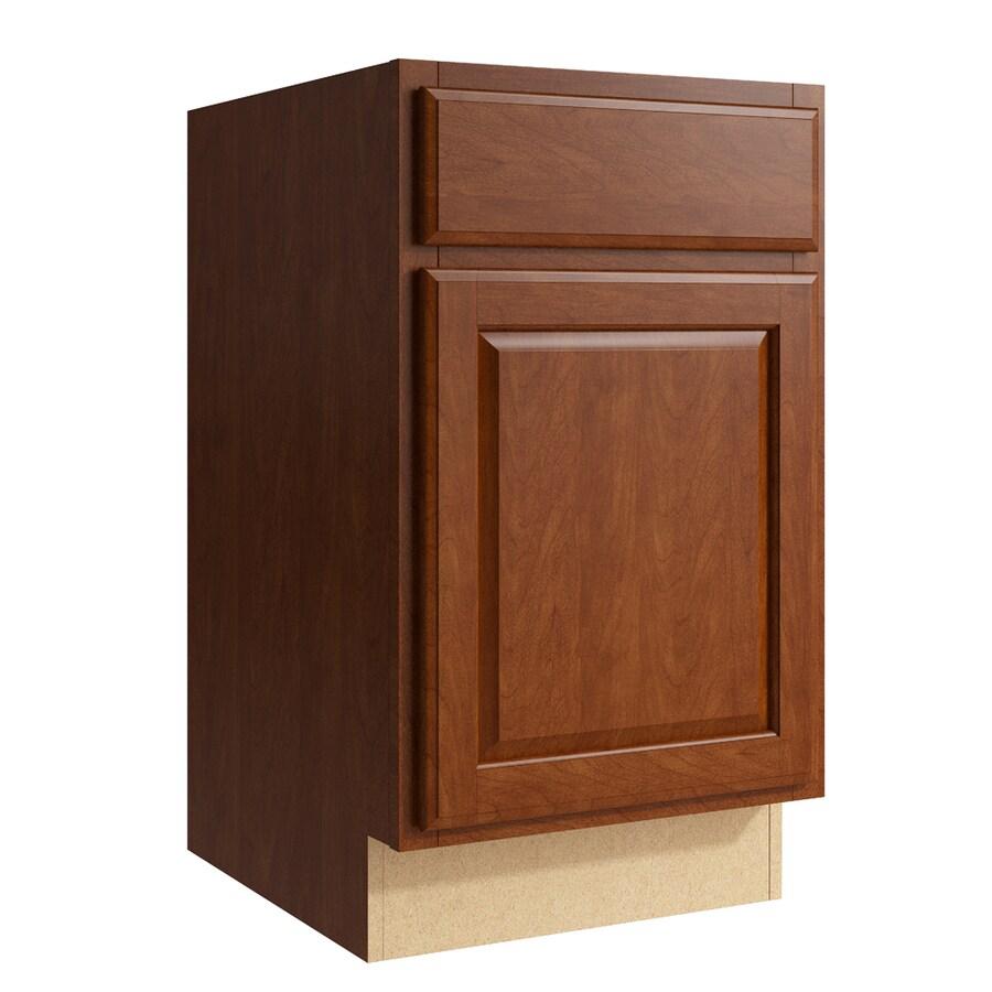 KraftMaid Momentum Sable Settler 1-Door Left-Hinged Base Cabinet (Common: 18-in x 21-in x 31.5-in; Actual: 18-in x 21-in x 31.5-in)