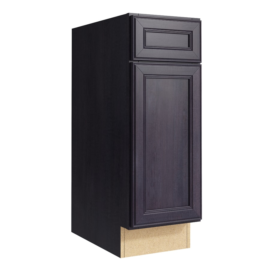 KraftMaid Momentum Dusk Bellamy 1-Door Right-Hinged Base Cabinet (Common: 12-in x 21-in x 34.5-in; Actual: 12-in x 21-in x 34.5-in)