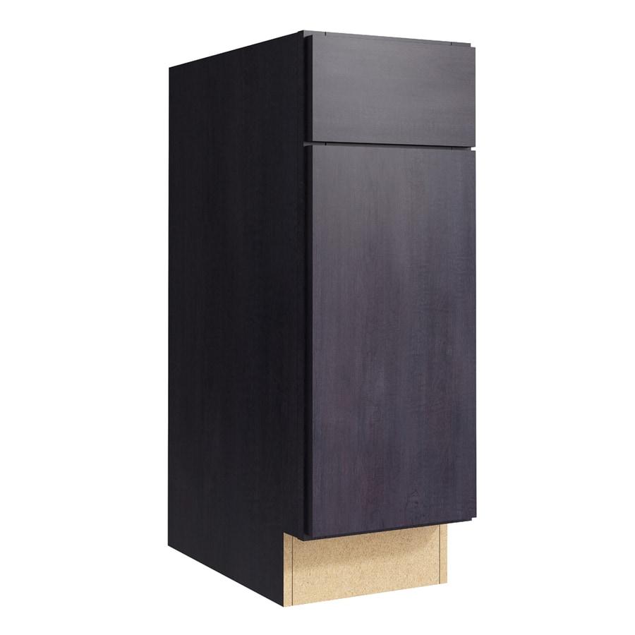 KraftMaid Momentum Dusk Frontier 1-Door Right-Hinged Base Cabinet (Common: 12-in x 21-in x 34.5-in; Actual: 12-in x 21-in x 34.5-in)