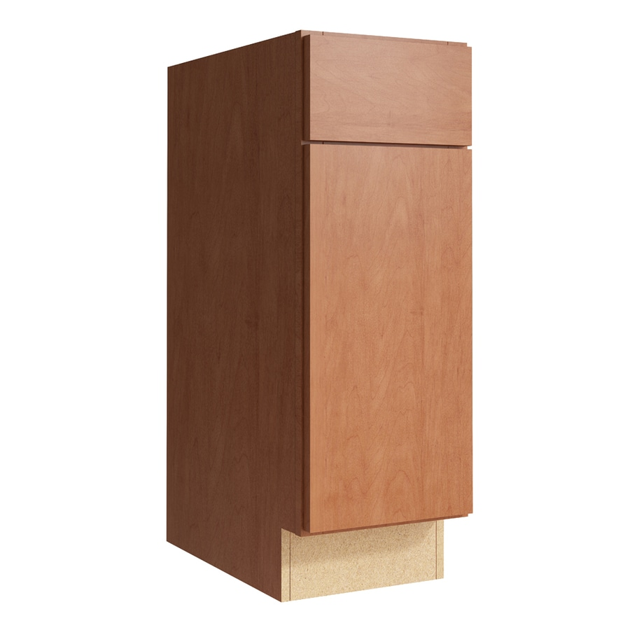 KraftMaid Momentum Hazelnut Frontier 1-Door Right-Hinged Base Cabinet (Common: 12-in x 21-in x 34.5-in; Actual: 12-in x 21-in x 34.5-in)