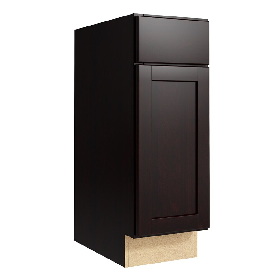 KraftMaid Momentum Kona Paxton 1-Door Right-Hinged Base Cabinet (Common: 12-in x 21-in x 34.5-in; Actual: 12-in x 21-in x 34.5-in)
