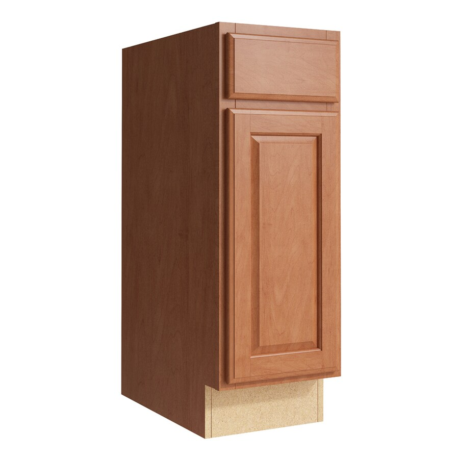 KraftMaid Momentum Hazelnut Settler 1-Door Right-Hinged Base Cabinet (Common: 12-in x 21-in x 34.5-in; Actual: 12-in x 21-in x 34.5-in)