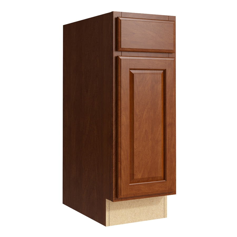 KraftMaid Momentum Sable Settler 1-Door Right-Hinged Base Cabinet (Common: 12-in x 21-in x 34.5-in; Actual: 12-in x 21-in x 34.5-in)