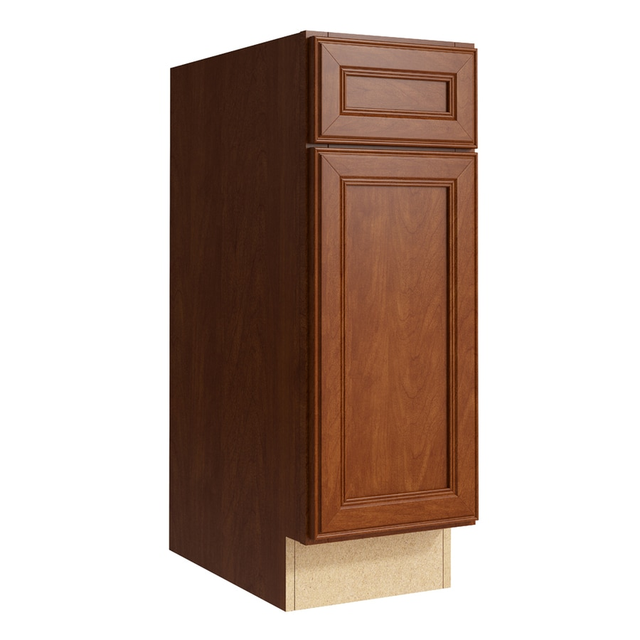 KraftMaid Momentum Sable Bellamy 1-Door Left-Hinged Base Cabinet (Common: 12-in x 21-in x 34.5-in; Actual: 12-in x 21-in x 34.5-in)