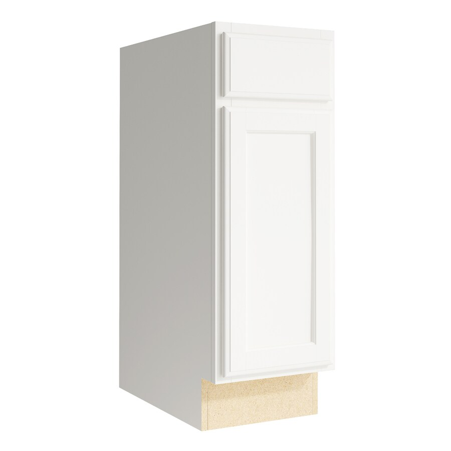 KraftMaid Momentum Cotton Kingston 1-Door Left-Hinged Base Cabinet (Common: 12-in x 21-in x 34.5-in; Actual: 12-in x 21-in x 34.5-in)