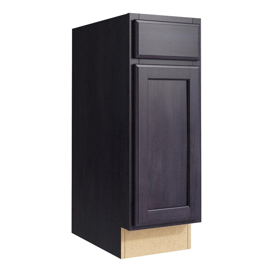 KraftMaid Momentum Dusk Kingston 1-Door Left-Hinged Base Cabinet (Common: 12-in x 21-in x 34.5-in; Actual: 12-in x 21-in x 34.5-in)