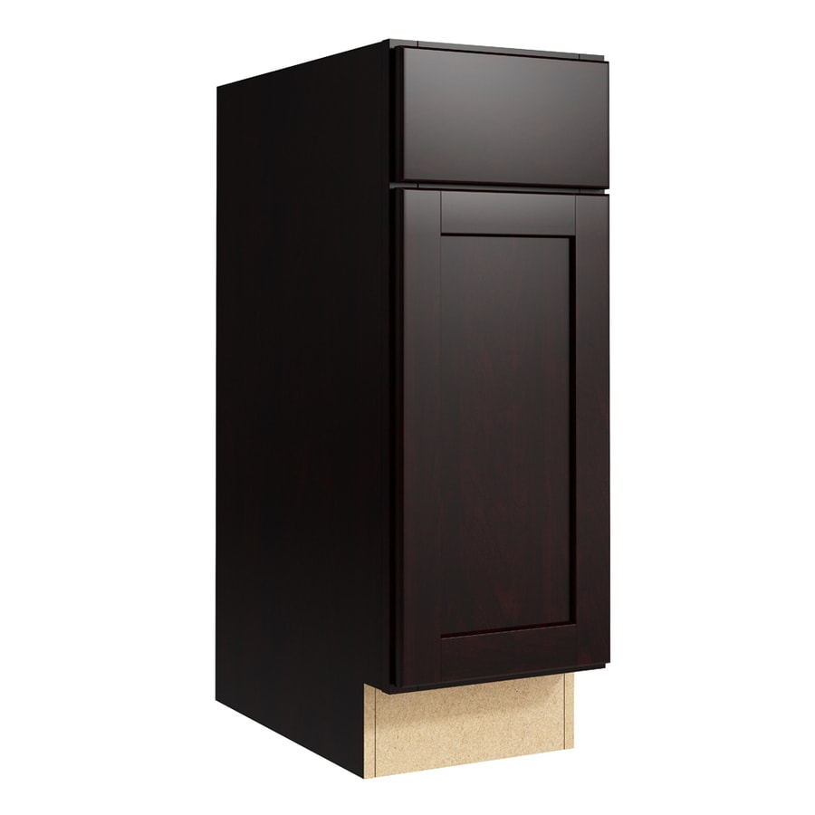 KraftMaid Momentum Kona Paxton 1-Door Left-Hinged Base Cabinet (Common: 12-in x 21-in x 34.5-in; Actual: 12-in x 21-in x 34.5-in)