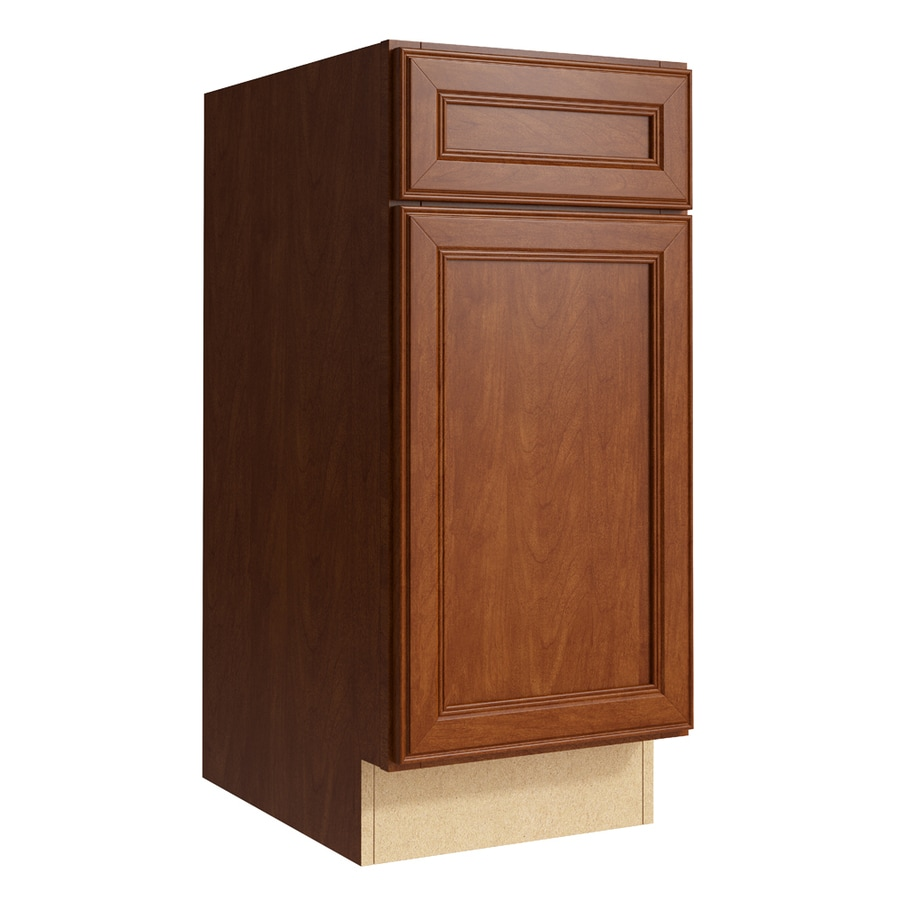 KraftMaid Momentum Sable Bellamy 1-Door Right-Hinged Base Cabinet (Common: 15-in x 21-in x 34.5-in; Actual: 15-in x 21-in x 34.5-in)