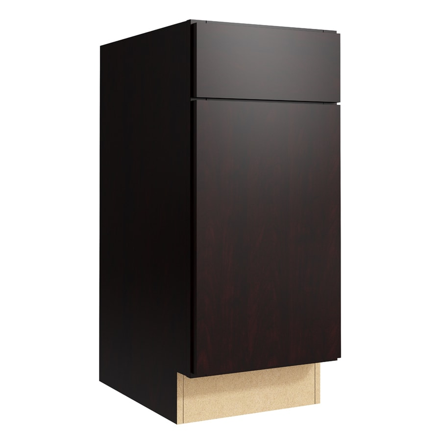 KraftMaid Momentum Kona Frontier 1-Door Right-Hinged Base Cabinet (Common: 15-in x 21-in x 34.5-in; Actual: 15-in x 21-in x 34.5-in)