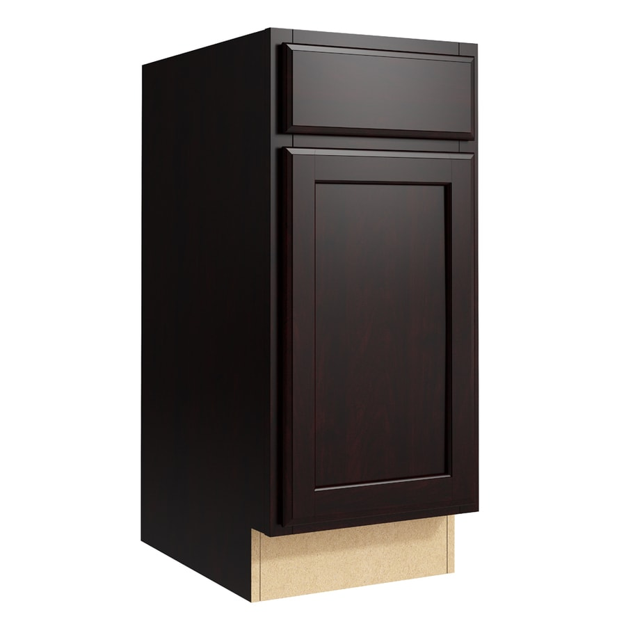 KraftMaid Momentum Kona Kingston 1-Door Right-Hinged Base Cabinet (Common: 15-in x 21-in x 34.5-in; Actual: 15-in x 21-in x 34.5-in)