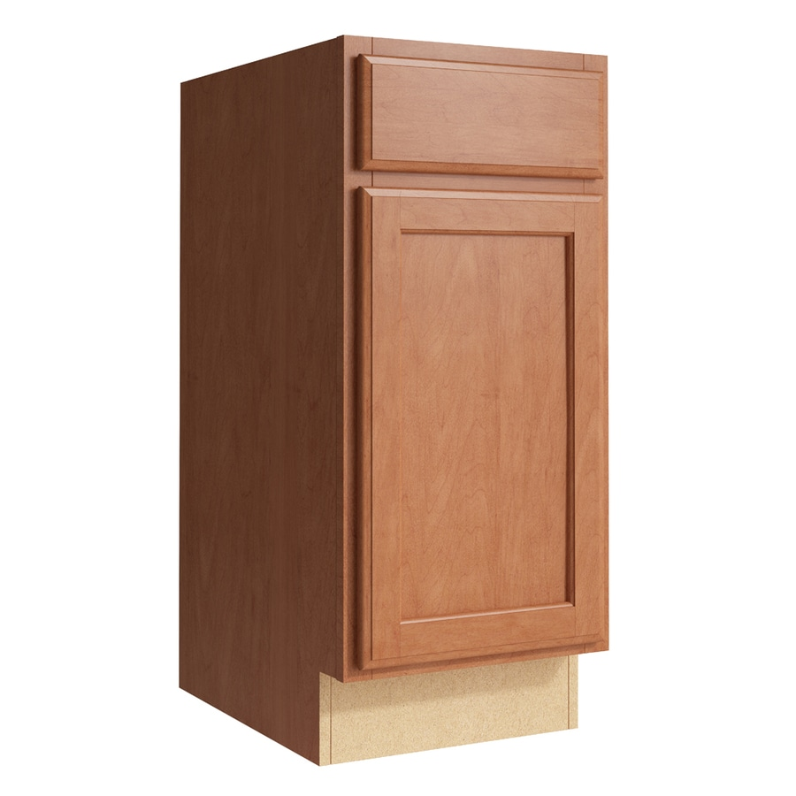 KraftMaid Momentum Hazelnut Kingston 1-Door Right-Hinged Base Cabinet (Common: 15-in x 21-in x 34.5-in; Actual: 15-in x 21-in x 34.5-in)