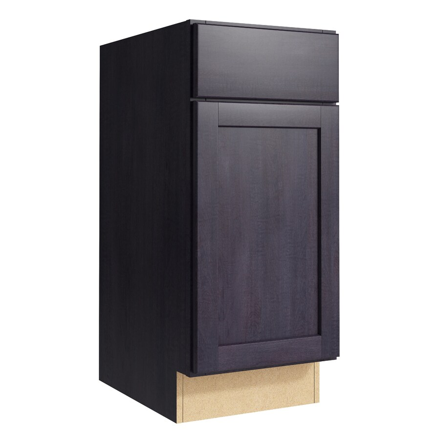 KraftMaid Momentum Dusk Paxton 1-Door Right-Hinged Base Cabinet (Common: 15-in x 21-in x 34.5-in; Actual: 15-in x 21-in x 34.5-in)