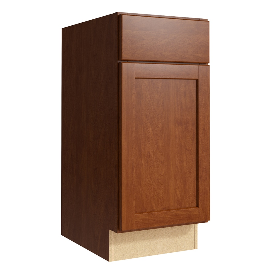 KraftMaid Momentum Sable Paxton 1-Door Right-Hinged Base Cabinet (Common: 15-in x 21-in x 34.5-in; Actual: 15-in x 21-in x 34.5-in)