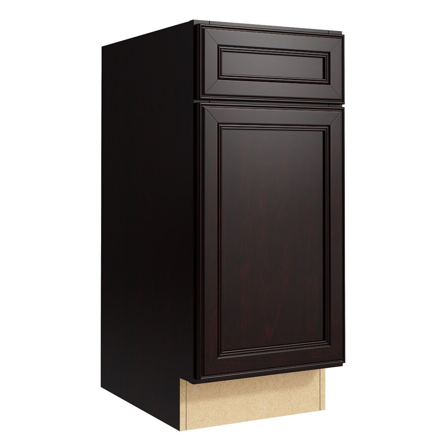 KraftMaid Momentum Kona Bellamy 1-Door Left-Hinged Base Cabinet (Common: 15-in x 21-in x 34.5-in; Actual: 15-in x 21-in x 34.5-in)