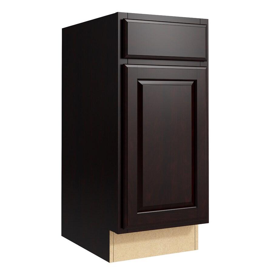 KraftMaid Momentum Kona Settler 1-Door Left-Hinged Base Cabinet (Common: 15-in x 21-in x 34.5-in; Actual: 15-in x 21-in x 34.5-in)