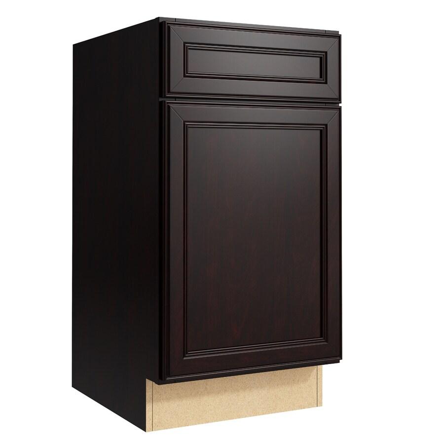 KraftMaid Momentum Kona Bellamy 1-Door Right-Hinged Base Cabinet (Common: 18-in x 21-in x 34.5-in; Actual: 18-in x 21-in x 34.5-in)