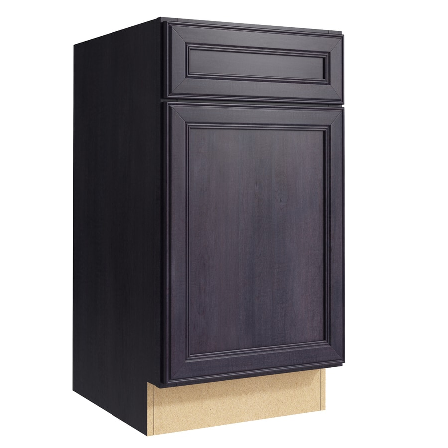KraftMaid Momentum Dusk Bellamy 1-Door Right-Hinged Base Cabinet (Common: 18-in x 21-in x 34.5-in; Actual: 18-in x 21-in x 34.5-in)