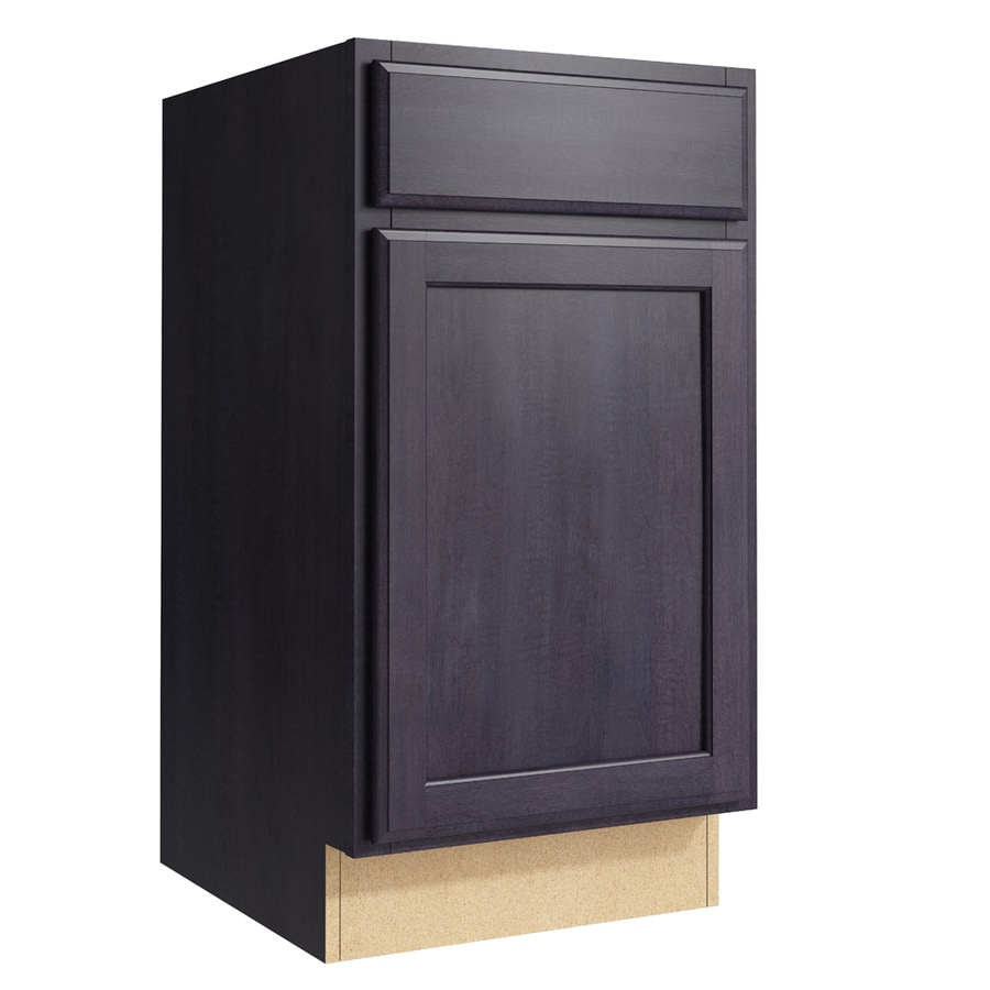 KraftMaid Momentum Dusk Kingston 1-Door Right-Hinged Base Cabinet (Common: 18-in x 21-in x 34.5-in; Actual: 18-in x 21-in x 34.5-in)