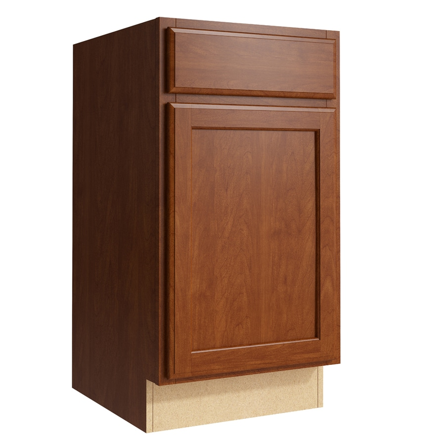 KraftMaid Momentum Sable Kingston 1-Door Right-Hinged Base Cabinet (Common: 18-in x 21-in x 34.5-in; Actual: 18-in x 21-in x 34.5-in)