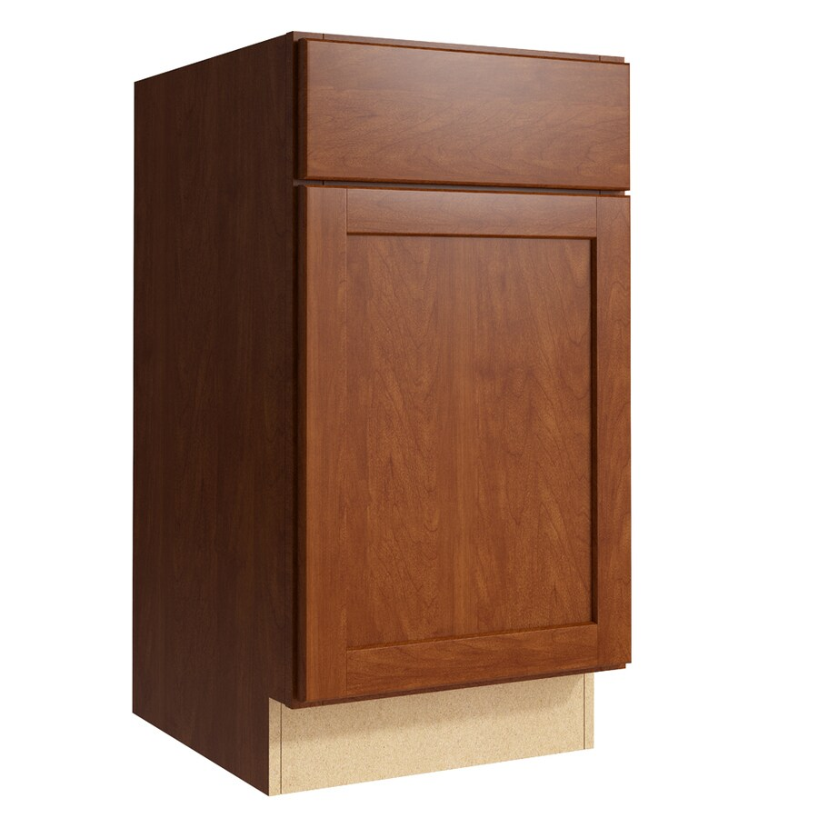 KraftMaid Momentum Sable Paxton 1-Door Right-Hinged Base Cabinet (Common: 18-in x 21-in x 34.5-in; Actual: 18-in x 21-in x 34.5-in)