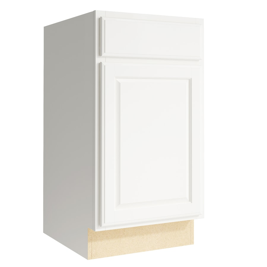 KraftMaid Momentum Cotton Settler 1-Door Right-Hinged Base Cabinet (Common: 18-in x 21-in x 34.5-in; Actual: 18-in x 21-in x 34.5-in)