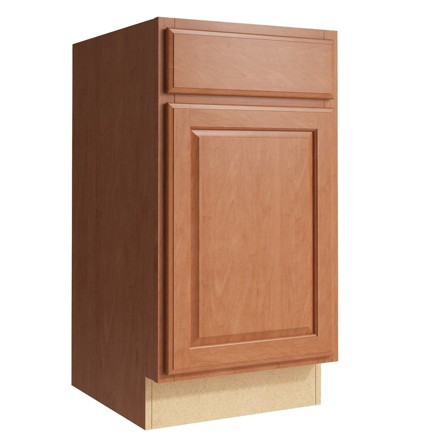 KraftMaid Momentum Hazelnut Settler 1-Door Right-Hinged Base Cabinet (Common: 18-in x 21-in x 34.5-in; Actual: 18-in x 21-in x 34.5-in)
