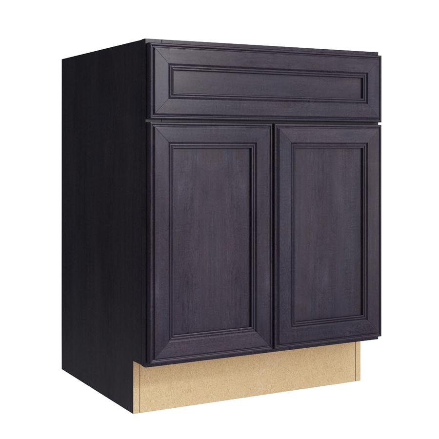 Merrilat Dusk Color Cabinets: Shop KraftMaid Momentum Dusk Bellamy 2-Door Base Cabinet