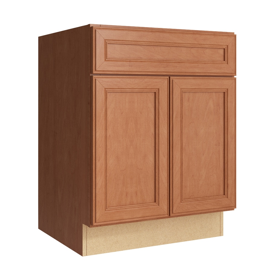 kraftmaid cabinet sizes shop kraftmaid momentum hazelnut bellamy 2 door base 22381