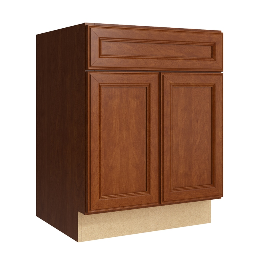 KraftMaid Momentum Sable Bellamy 2-Door Base Cabinet (Common: 24-in x 21-in x 31.5-in; Actual: 24-in x 21-in x 31.5-in)
