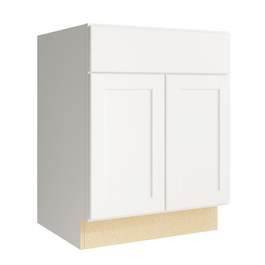 KraftMaid Momentum Cotton Paxton 2-Door Base Cabinet (Common: 24-in x 21-in x 31.5-in; Actual: 24-in x 21-in x 31.5-in)
