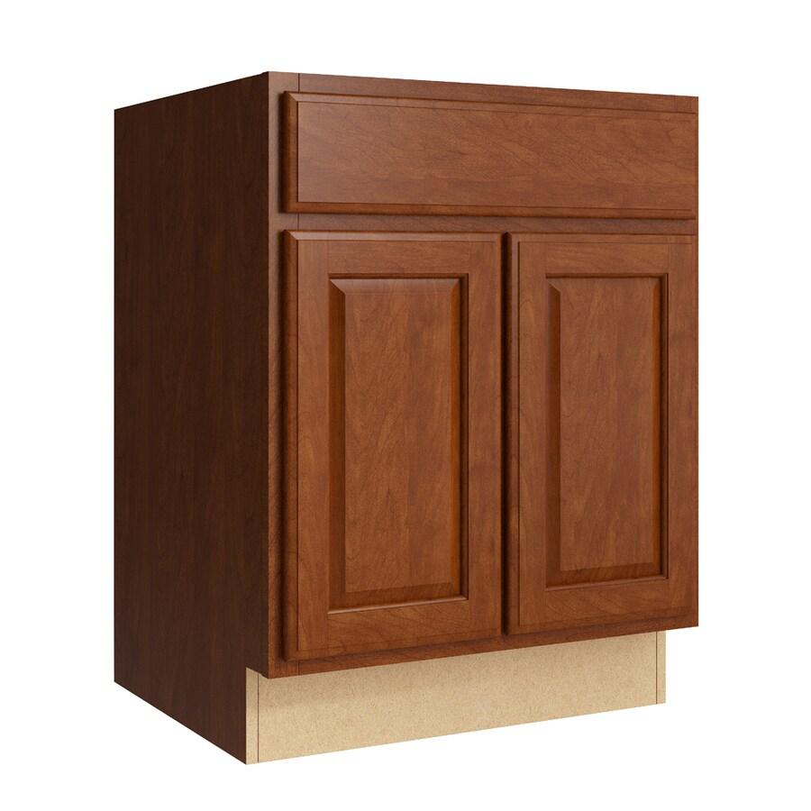 KraftMaid Momentum Sable Settler 2-Door Base Cabinet (Common: 24-in x 21-in x 31.5-in; Actual: 24-in x 21-in x 31.5-in)