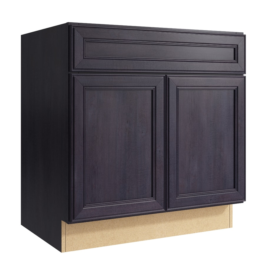 Merrilat Dusk Color Cabinets: KraftMaid Momentum Bellamy 30-in Dusk Bathroom Vanity