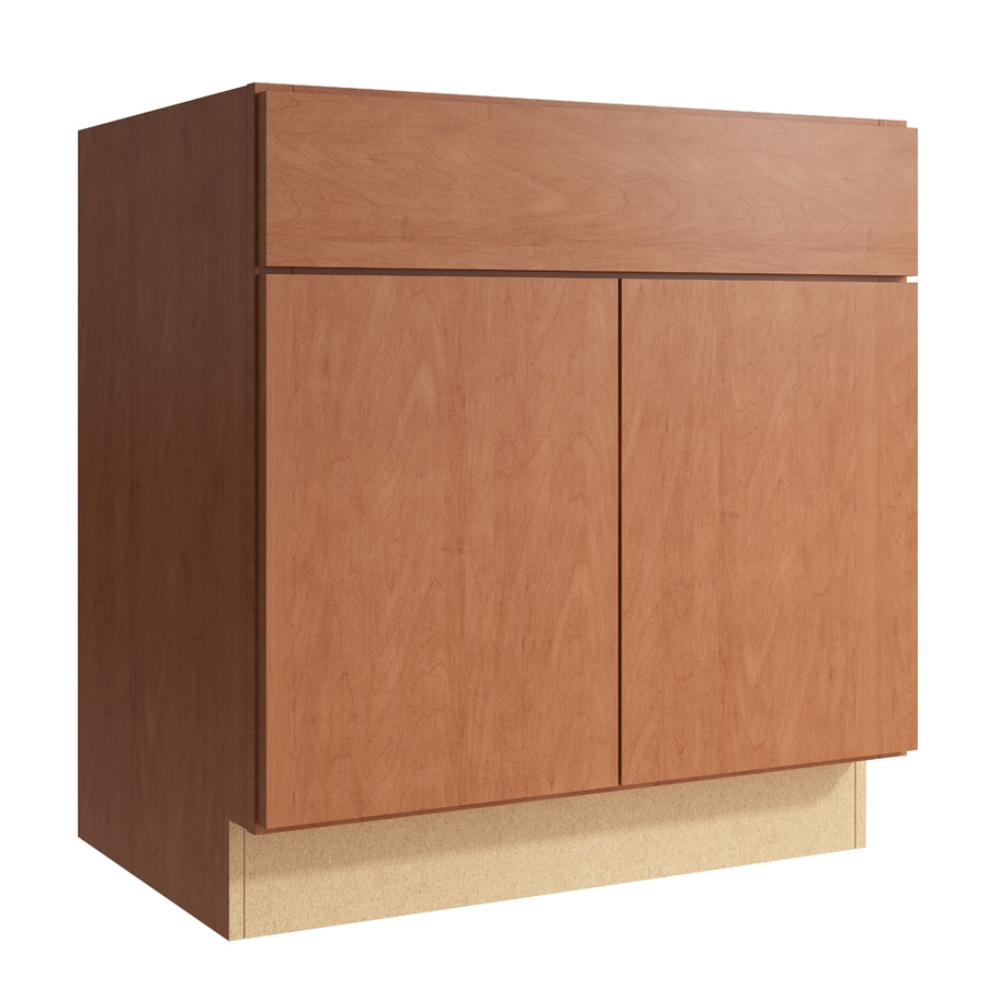 KraftMaid Momentum Hazelnut Frontier 2-Door Base Cabinet (Common: 30-in x 21-in x 31.5-in; Actual: 30-in x 21-in x 31.5-in)