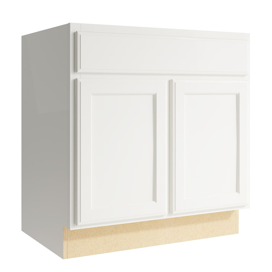 KraftMaid Momentum Cotton Kingston 2-Door Base Cabinet (Common: 30-in x 21-in x 31.5-in; Actual: 30-in x 21-in x 31.5-in)