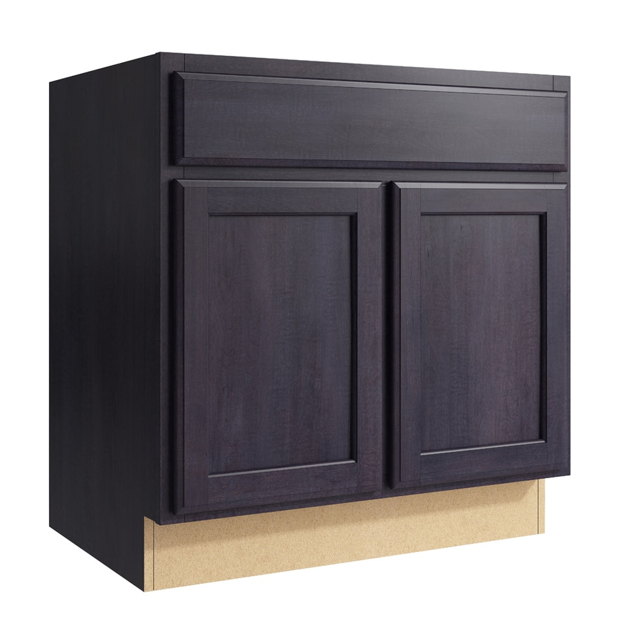 KraftMaid Momentum Dusk Kingston 2-Door Base Cabinet (Common: 30-in x 21-in x 31.5-in; Actual: 30-in x 21-in x 31.5-in)