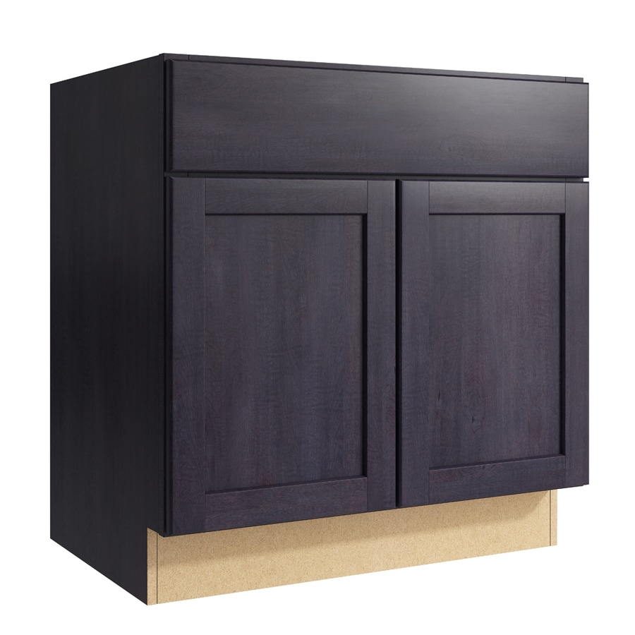 KraftMaid Momentum Dusk Paxton 2-Door Base Cabinet (Common: 30-in x 21-in x 31.5-in; Actual: 30-in x 21-in x 31.5-in)