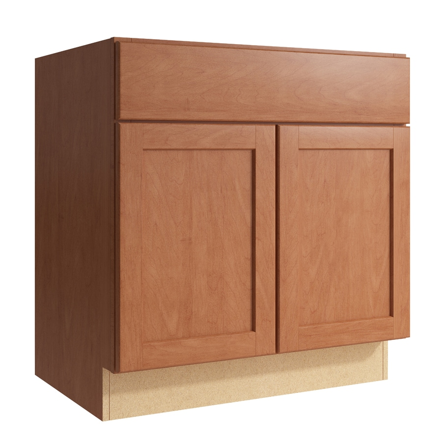 KraftMaid Momentum Hazelnut Paxton 2-Door Base Cabinet (Common: 30-in x 21-in x 31.5-in; Actual: 30-in x 21-in x 31.5-in)