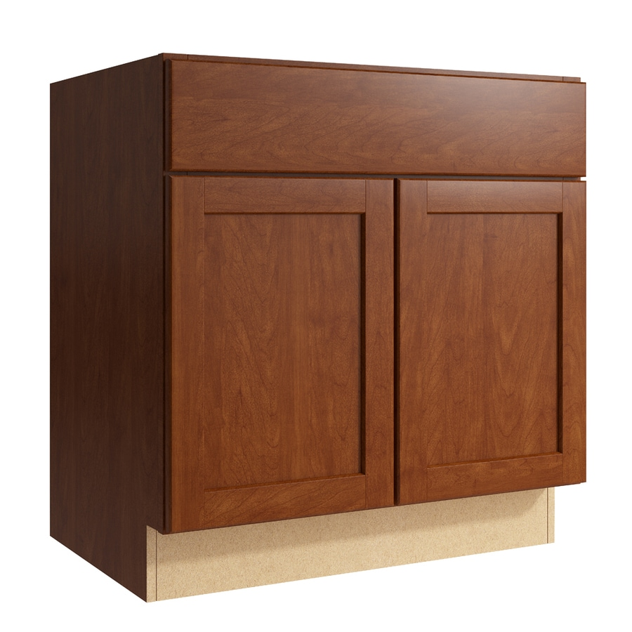 KraftMaid Momentum Sable Paxton 2-Door Base Cabinet (Common: 30-in x 21-in x 31.5-in; Actual: 30-in x 21-in x 31.5-in)