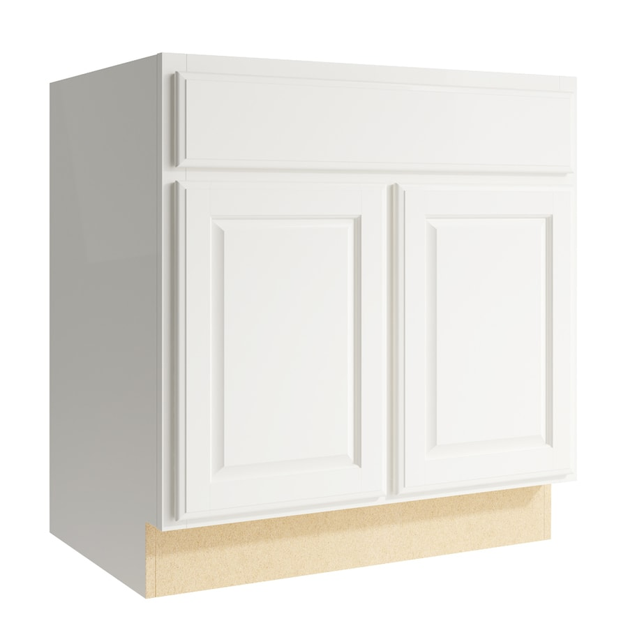 KraftMaid Momentum Cotton Settler 2-Door Base Cabinet (Common: 30-in x 21-in x 31.5-in; Actual: 30-in x 21-in x 31.5-in)
