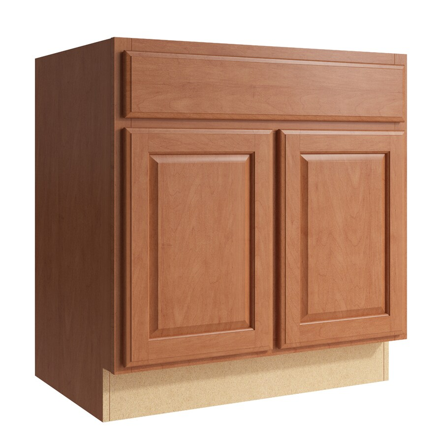 KraftMaid Momentum Hazelnut Settler 2-Door Base Cabinet (Common: 30-in x 21-in x 31.5-in; Actual: 30-in x 21-in x 31.5-in)
