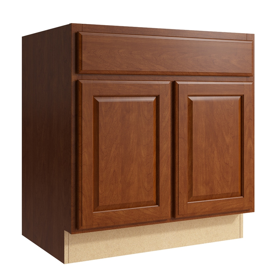 Shop kraftmaid momentum settler sable bathroom vanity at for Bathroom cabinets kraftmaid