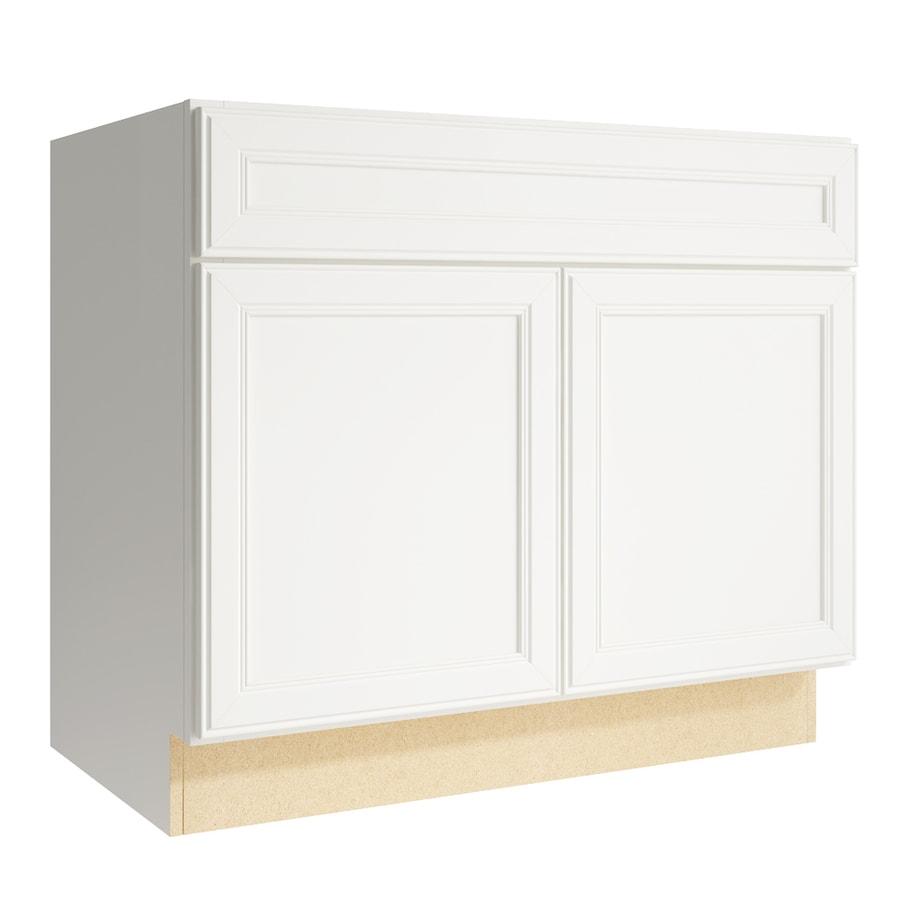 KraftMaid Momentum Cotton Bellamy 2-Door Base Cabinet (Common: 36-in x 21-in x 31.5-in; Actual: 36-in x 21-in x 31.5-in)
