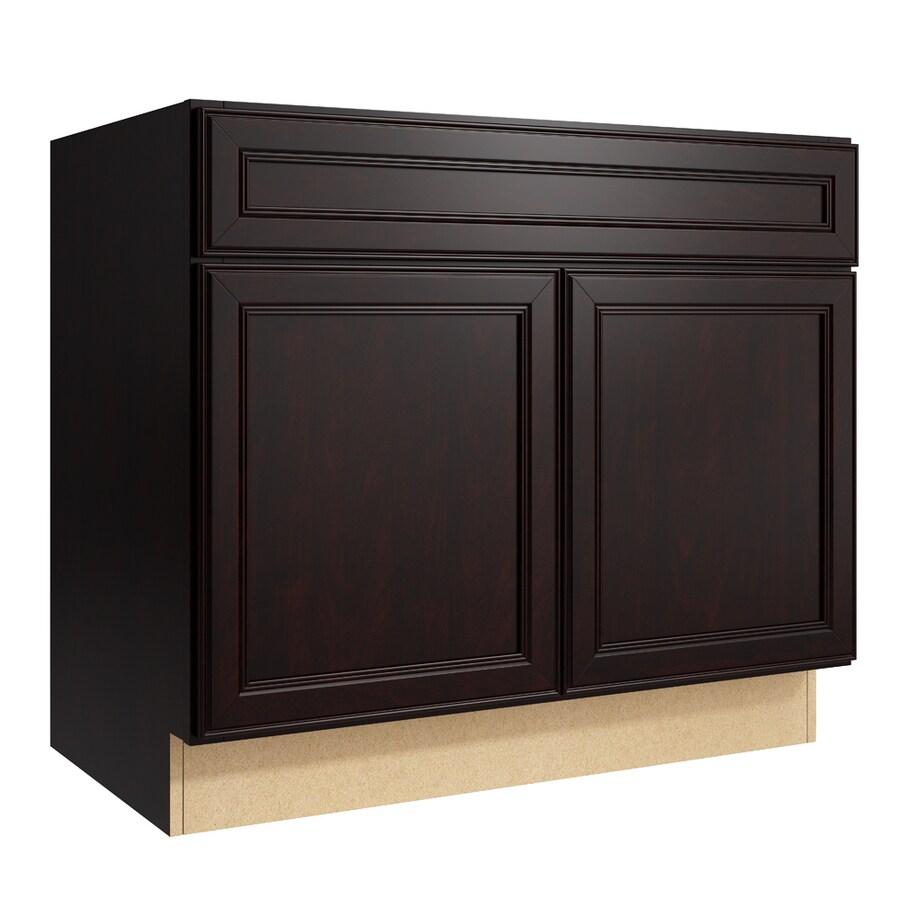 KraftMaid Momentum Kona Bellamy 2-Door Base Cabinet (Common: 36-in x 21-in x 31.5-in; Actual: 36-in x 21-in x 31.5-in)