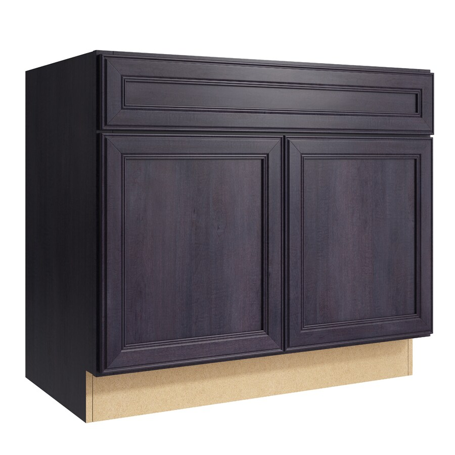Merrilat Dusk Color Cabinets: KraftMaid Momentum Bellamy 36-in Dusk Bathroom Vanity