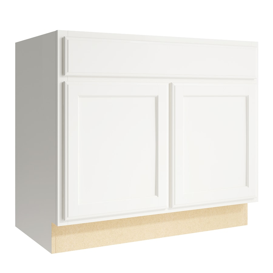 KraftMaid Momentum Cotton Kingston 2-Door Base Cabinet (Common: 36-in x 21-in x 31.5-in; Actual: 36-in x 21-in x 31.5-in)