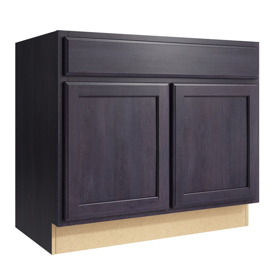 Merrilat Dusk Color Cabinets: KraftMaid Momentum Kingston 36-in Dusk Bathroom Vanity