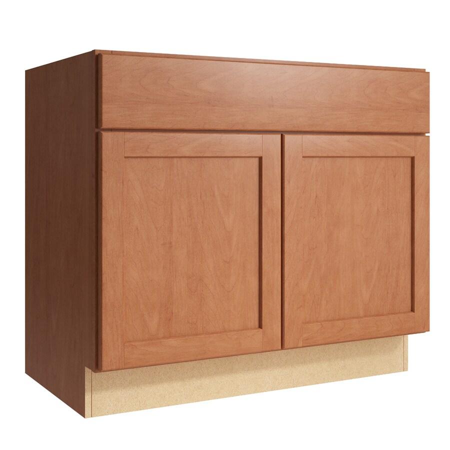 KraftMaid Momentum Hazelnut Paxton 2-Door Base Cabinet (Common: 36-in x 21-in x 31.5-in; Actual: 36-in x 21-in x 31.5-in)