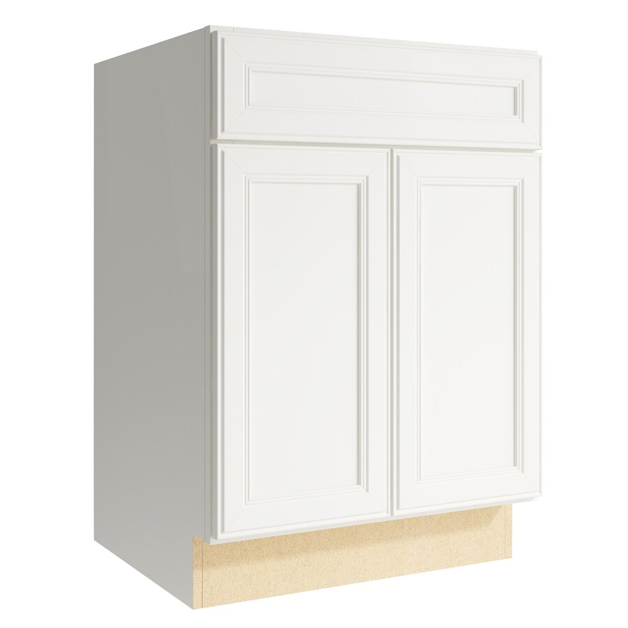KraftMaid Momentum Cotton Bellamy 2-Door Base Cabinet (Common: 24-in x 21-in x 34.5-in; Actual: 24-in x 21-in x 34.5-in)